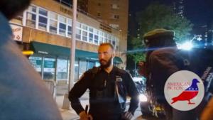 blm threatens cop